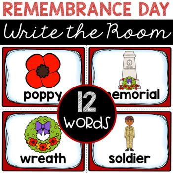 Just print, cut, and hide these cards around your classroom for instant learning and engagement! This familiar activity is just what you need to complement and enhance your classroom discussions about Remembrance Day. Your students will be reading and writing these 12 Remembrance Day words in no time.