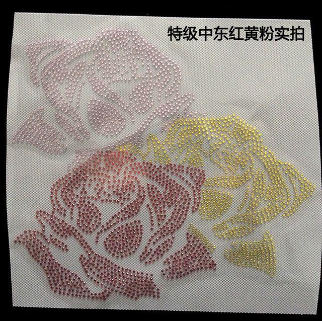 Fs красный, Желтый и розовые розы мотив исправление горный хрусталь переводы горный хрусталь железа горный хрусталь аппликации железа на мотив