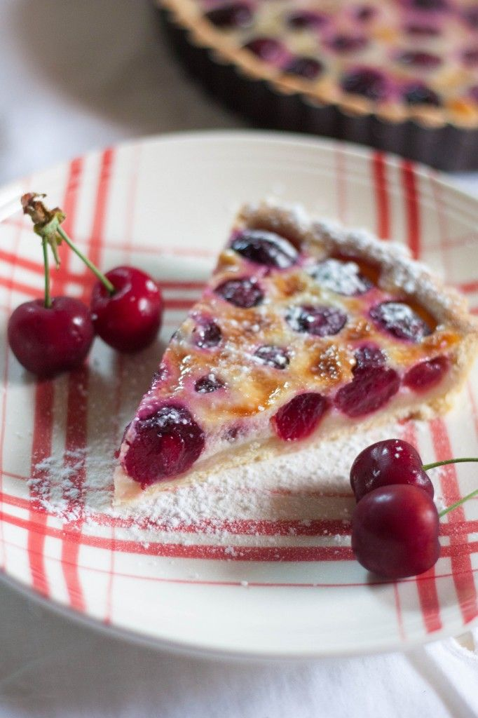 Tarte alsacienne aux cerises Back in France I are this dish all the time soo yummy