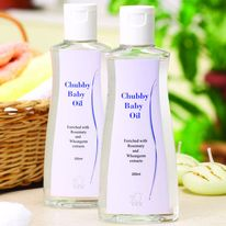 DXN Chubby Baby Oil It is a skin conditioner that moisturizes baby's delicate skin and helps protect skin from dryness, chapping and flaking. It helps to seal in moisture so skin feels baby soft, smooth and silky all day long. It is also effective for adults to remove eye make-up. http://usagano.dxnnet.com/products