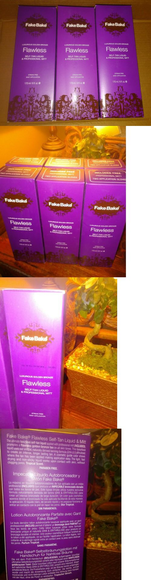 Sunless Tanning Products: 3 Pack - Fake Bake Flawless Self-Tan 6 Oz Mist W/ Mitt *Free Gifts Included!* BUY IT NOW ONLY: $45.0