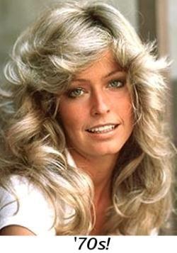 Farrah Fawcett's famous hairstyle