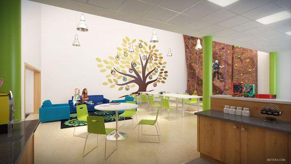 3d Renderings Elementary School Interiors By Cubic Meter Via Behance School Decor Ideas