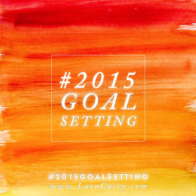#2015GoalSetting is well under way. Lara Casey is back in action and inspiring me to new heights with her goal setting series!