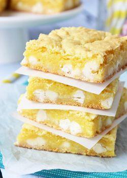 Lemon White Chocolate Gooey Bars - Life Love and Sugar