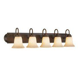 Millennium Lighting 5-Light Rubbed Bronze Standard Bathroom Vanity Light