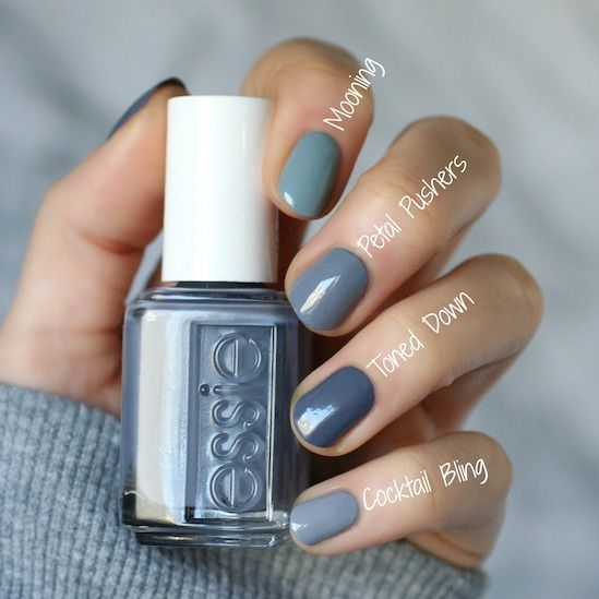 Essie Serene Slate Collection Swatches Review Amp Comparisons Essie Envy Nails In 2019