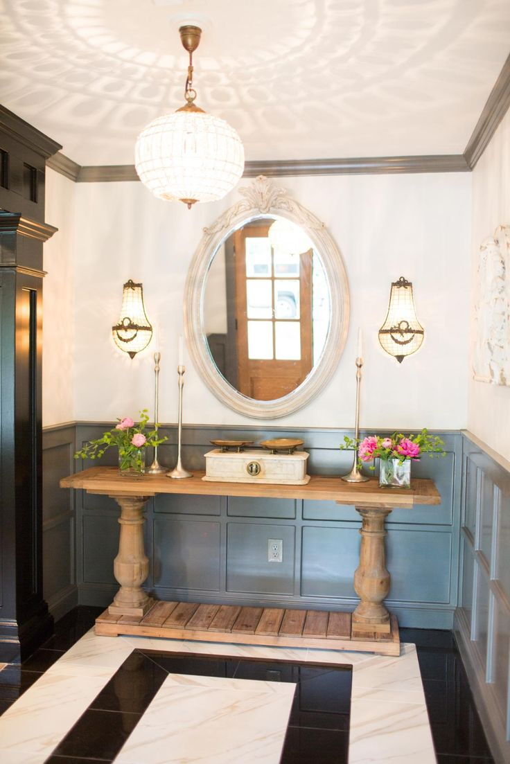 The School House from Fixer Upper - love the lighting and panelling.