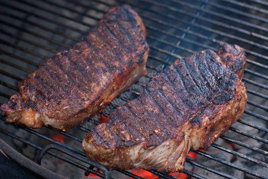 Dry steak rub strip steak