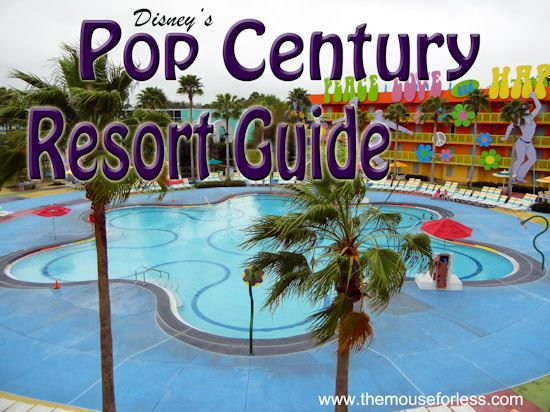 Disneys Pop Century Resort Guide from themouseforless.com #DisneyWorld #Vacation...love this. I for sure think that if we can't get the dinning plan at AOA then we will stay here. Plus, I mean, you can walk to AOA and check out the lobby and whatnot. Better than nothing....and vice versa if we stay at PC.