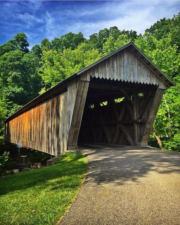 Bennett's Mill covered bridge. Built in 1855. Greenup County, Kentucky.