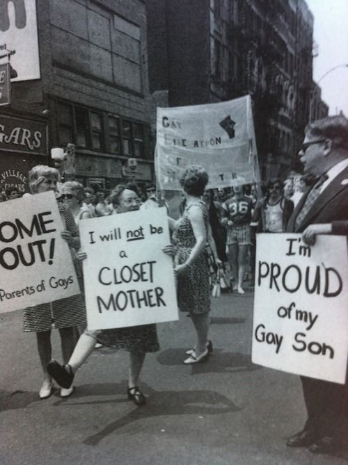 Early Gay Rights demonstration, NYC 1970s. And yet... Not much has changed in some countries.