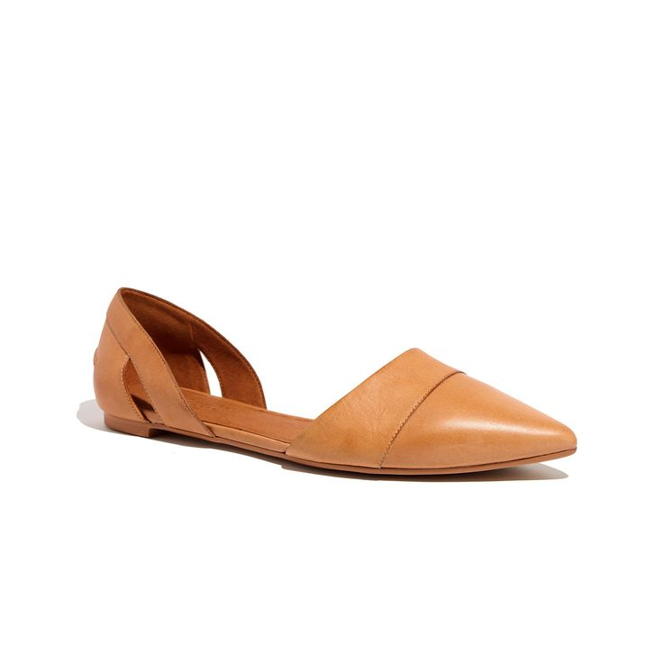 The d'Orsay Flat in Leather /
