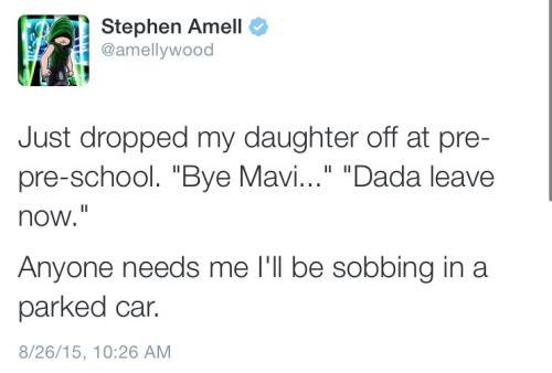 Stephen Amell.... Awwww....