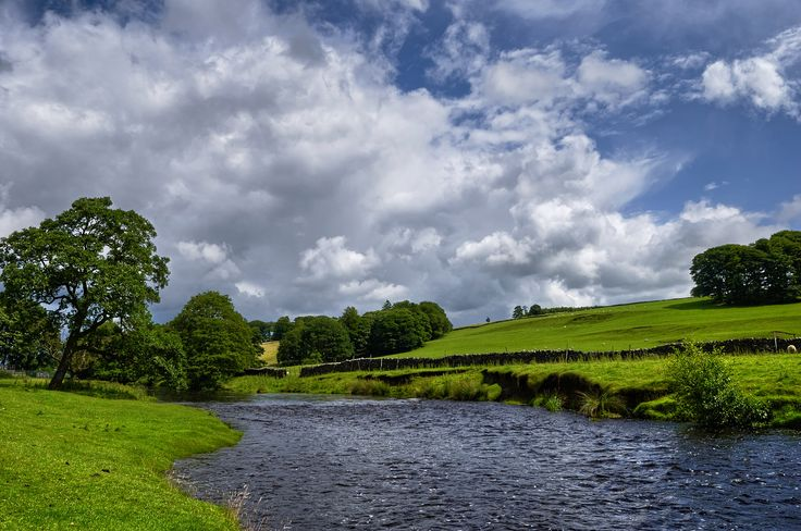 The trademark untouched landscape of Lancashire near the Forest of Bowland.