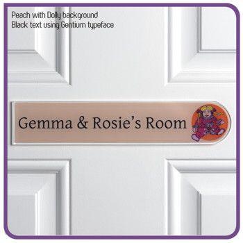 Children door signs Gemma and Rosie modern de signage door sign. 61 best Girls Bedroom Door Signs   Door Name Plates for Girls