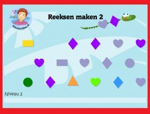 Seriëren met kleuters 2 op digibord of computer, kleuteridee / Series game for preschoolers in IWB or computer