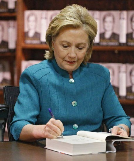 2016 Poll: Hillary Clinton drops below 50% for first time, 'lackluster' book rollout blamed...umm, maybe more like foot in her mouth disease is as well perhaps the people are finally waking up to her insipid drivel.