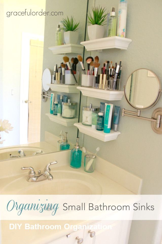 Diy Bathroom Organization Ideas Diybathroom Small Bathroom Sinks Makeup Storage Small Bathroom Bathroom Organization Diy