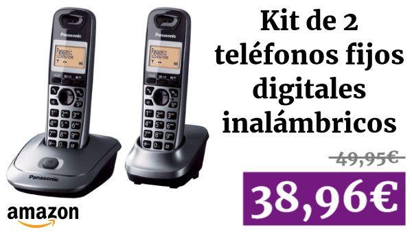 Panasonic Kx Tg2512spm Kit De 2 Telefonos Fijos Digitales
