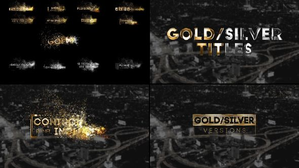 Free Download Golden Titles for Premiere Pro & After Effects