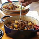 Pork and Pumpkin Stew Recipe from Williams-Sonoma: Mashed Potatoes, Food, Butternut Squashes, Dinners, William Sonoma, House Smells, Stew Recipe, Pumpkin Stew, Pork Stew