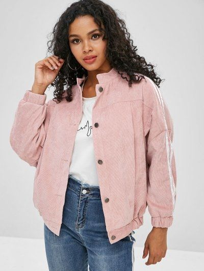 Baggy Faux Fur Lined Corduroy Jacket | Outfits ️ ...