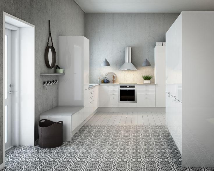 kjøkken, fliser gulv