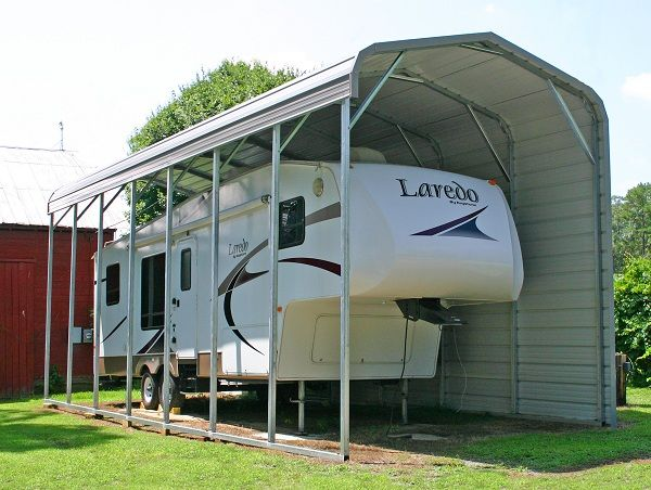 25 best ideas about rv carports on pinterest rv shelter for Rv boat storage buildings