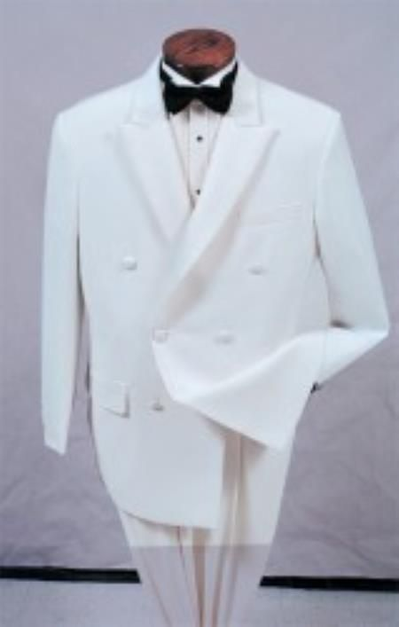 #Double #breasted #peak #lapel #white #tuxedo.Only $595