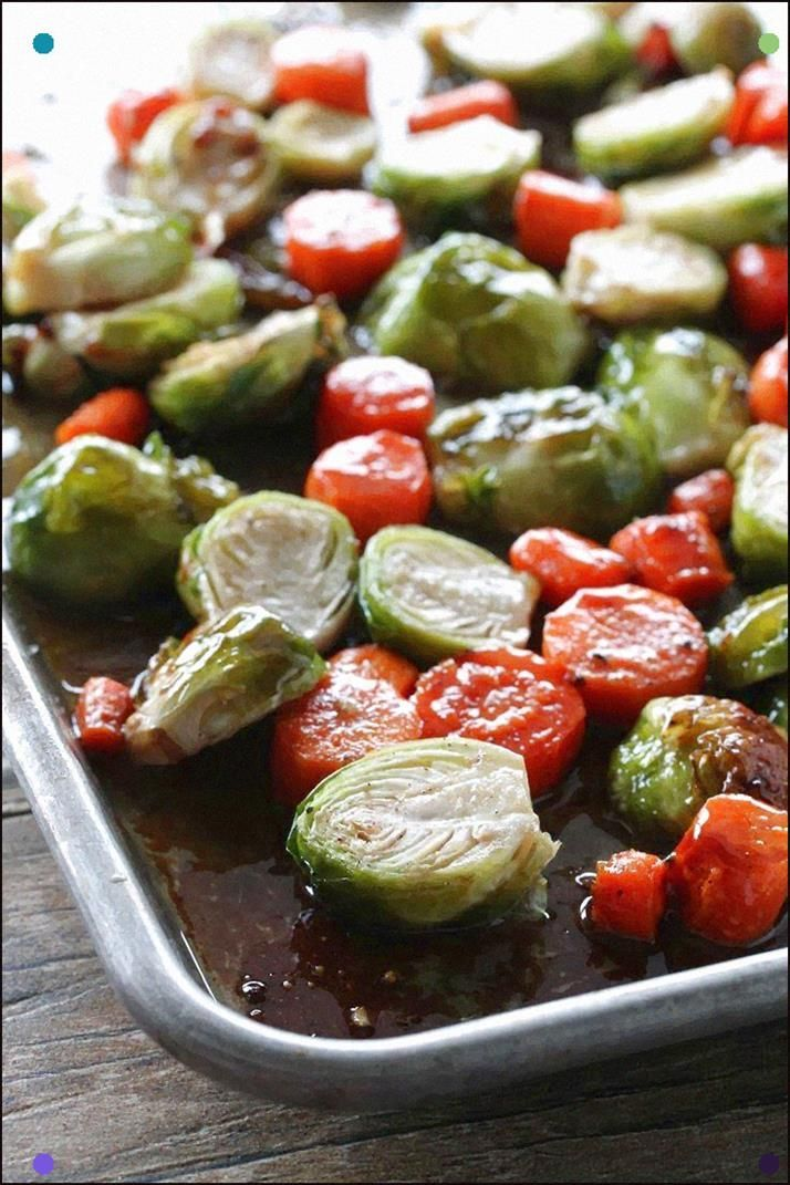Honey Roasted Brussel Sprouts And Carrots From The Stay At Home Chef. Who Says V…   – Roasted