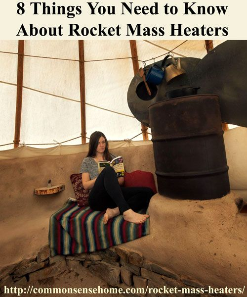 8 Things You Should Know About Rocket Mass Heaters - Learn how rocket mass heaters can save money you money on heating costs, reduce your environmental impact, and keep you warm in the coldest winters.