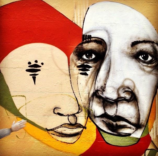 Ears. Street Art - Newtown, Sydney.