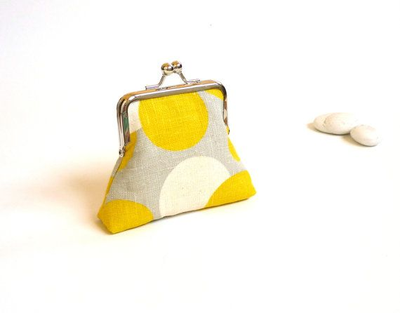 Retro purse mid century purse yellow gray purse by maplemist