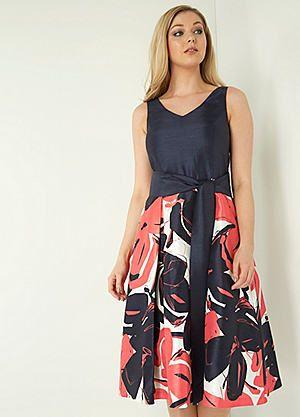 Roman Originals Contrast Floral Fit & Flare Dress #kaleidoscope #occasionwear