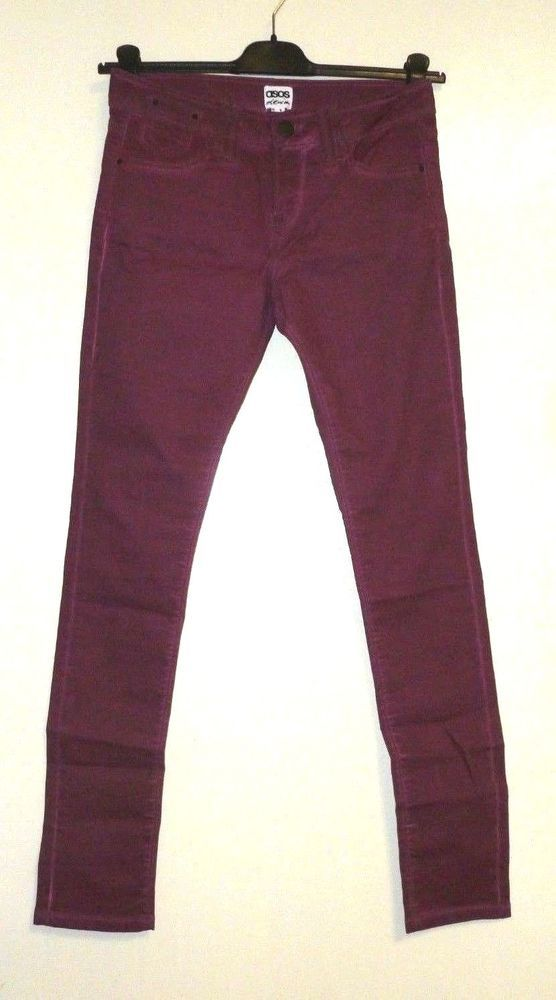 ce79e6b619f9 ASOS Coated Skinny Jeans in Damson 10 UK rrp 30 Box30 12 O  fashion   clothing  shoes  accessories  womensclothing  jeans (ebay link)