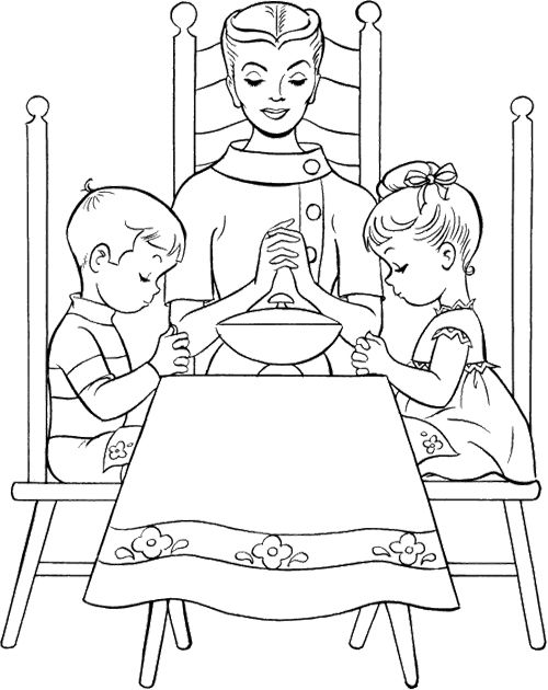 kaboose coloring pages thanksgiving meal - photo #19