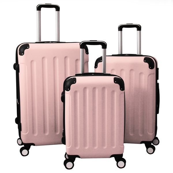 World Traveler Madison 3-piece Hardside Spinner Wheels Luggage Set - Overstock Shopping - Great Deals on World Traveler Three-piece Sets