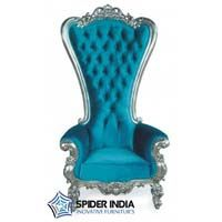 Aqua Blue Majestic Wedding Throne Chairs
