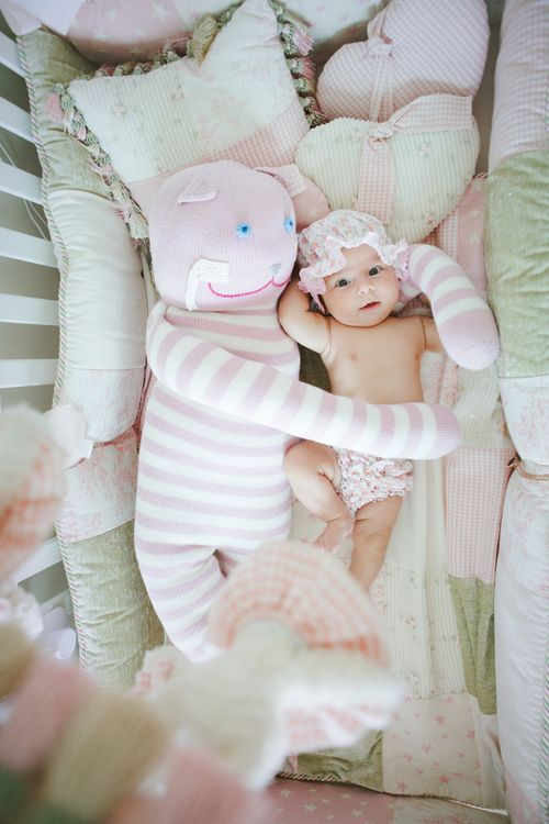 #cute #little #baby #rose #girl #girly #crib