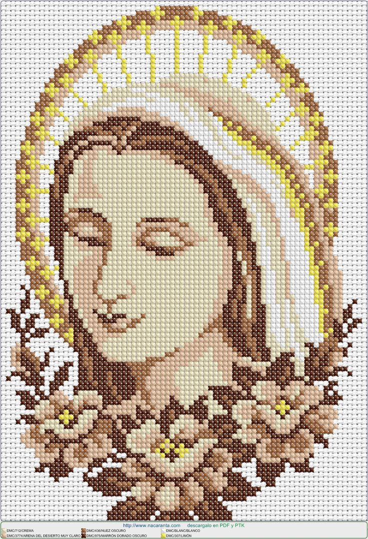 virgen asuncion EN PUNTO DE CRUZ, Cross stitch patterns