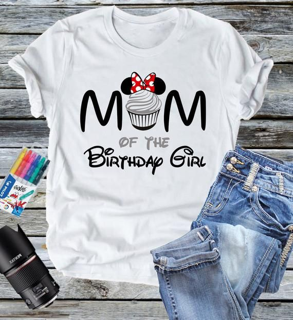 Mickey Mouse DAD Birthday Cupcake Shirt Personalized Tees Mickey GIRL or BOY Disney Family Mom Sister World Vacation Name Party Epcot Magic