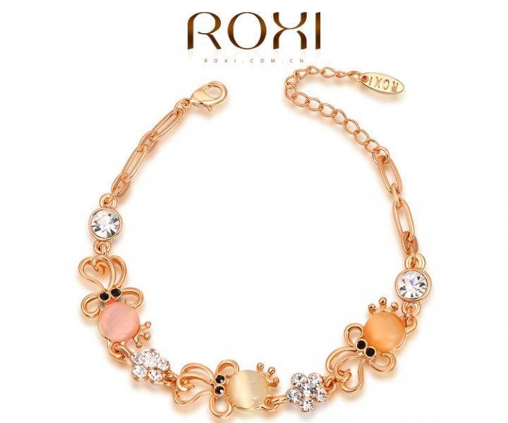 Met Rose Goud Vergulde Armband met Octopus figuurtjes