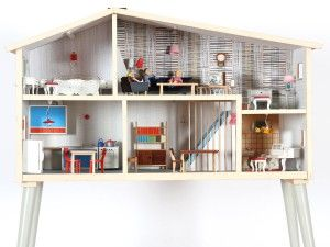 maison de poup e scandinave g teborg 1960 doll house. Black Bedroom Furniture Sets. Home Design Ideas