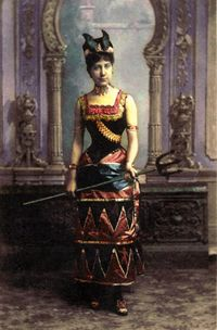 Laura Locoul - this was probably a Mardi Gras costume