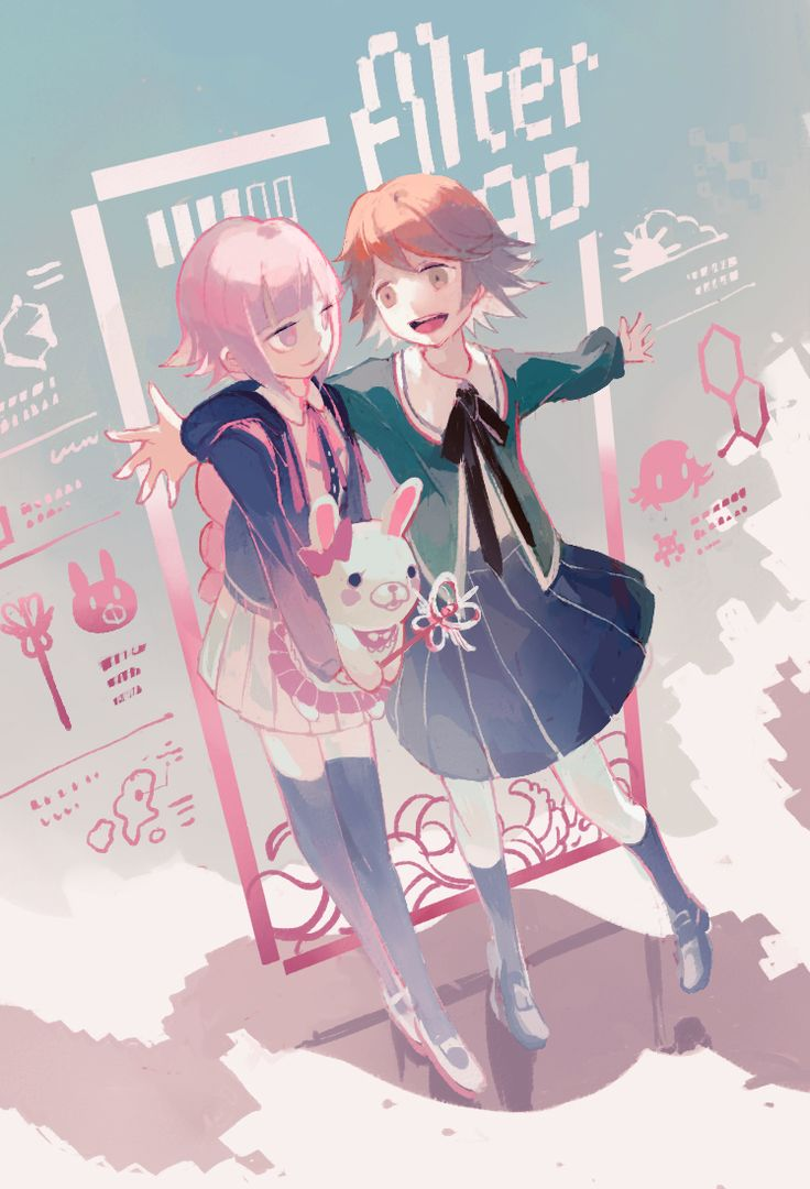 Chiaki Nanami and Chihiro Fujisaki (Alter Ego)