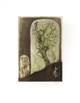 Original signed etching by Bo Lars - the stalkers