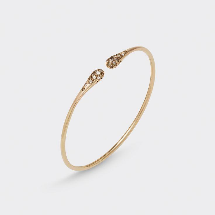 Bracelet in 18 kt rose gold with brown diamonds #jewelryforwoman #pontevecchiogioielli