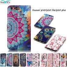 Huawei P10 P10Lite Case Luxury Flip Leather Case Huawei P10 Lite P10 Plus Funda Wallet Card Stand Phone Cover Hawei P 10 P10Plus(China)