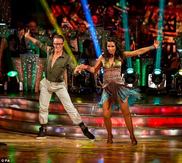 Kevin Clifton and Susanna Reid performed on Strictly Come Dancing doing the Samba dressed in jungle-inspired outfits (Charalambous S,2013)